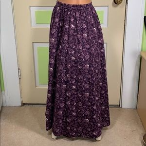 LAURA ASHLEY Vintage PURPLE SKIRT FLORAL SIZE M